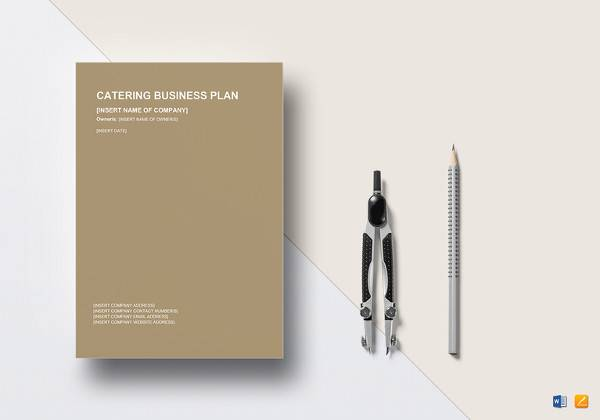 catering business plan word template
