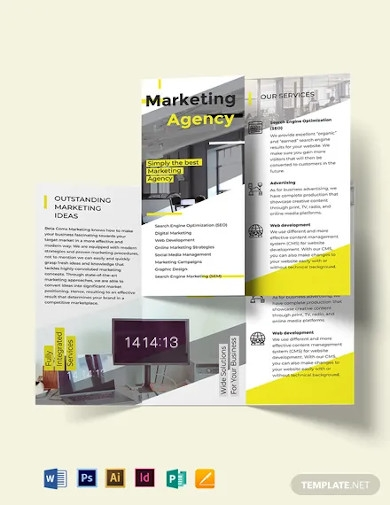 marketing tri fold brochure template