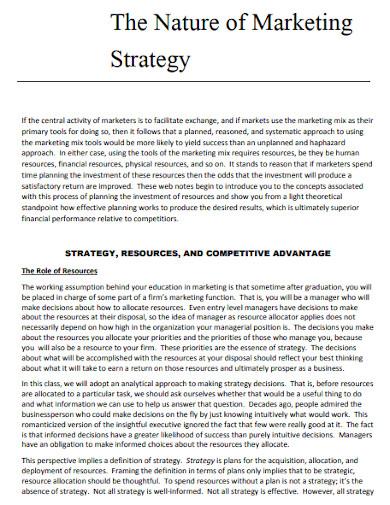 marketings strategy