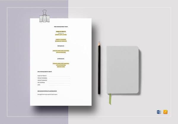 risk management plan template to print