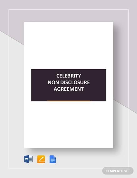 celebrity non disclosure