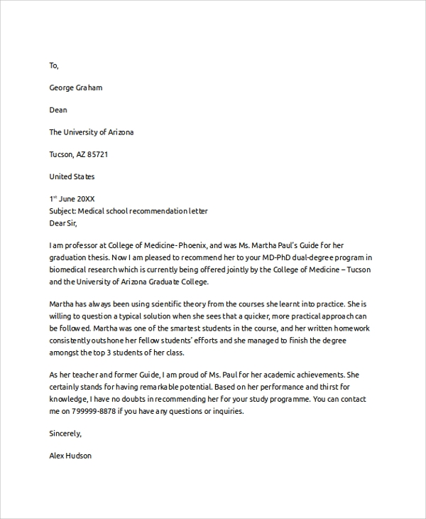Reference letter medical school letter of recommendation elegant letter of recommendation altavistaventures Image collections