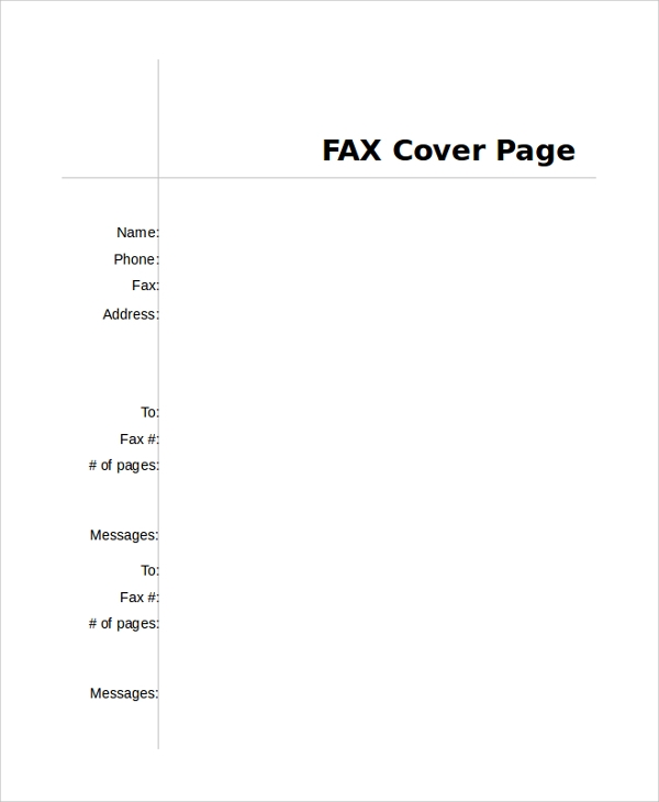 Sample Fax Cover Page - 8+ Examples in PDF, Word