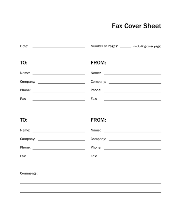 Sample Fax Cover Page   Examples In Pdf Word
