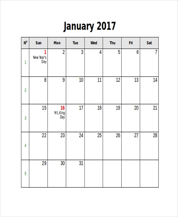 printable blank holidays calendar
