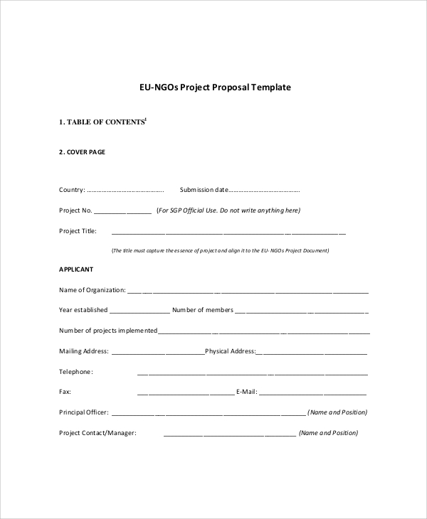 cover page for proposal template