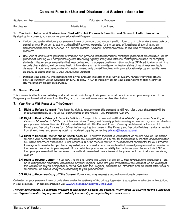 Outstanding Student Permission Slip Template Inspiration - Examples ...