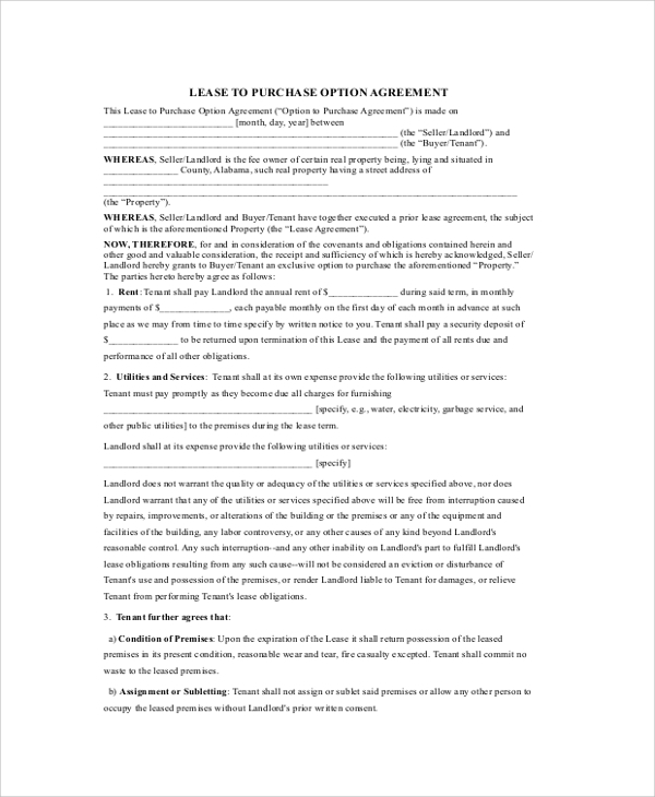 Sample Pasture Lease Agreement Rental Agreement Template Free Word