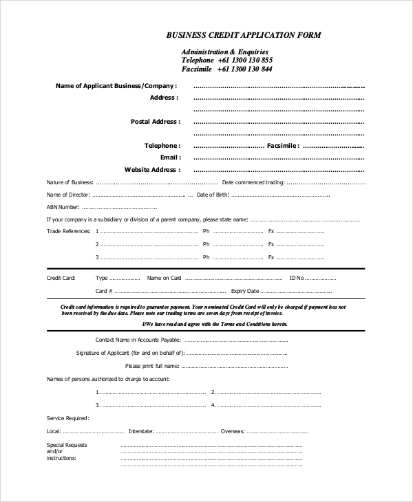 Sample Business Form   Examples In Pdf Word
