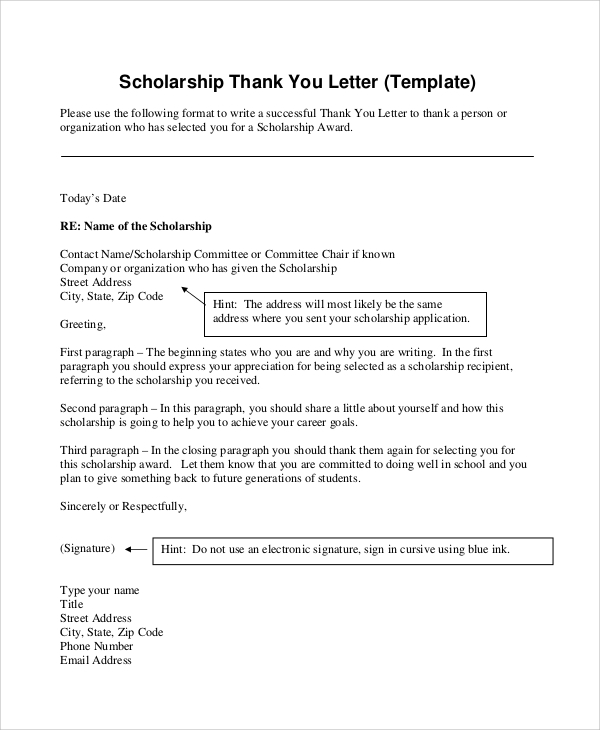 Sample Thank You Letter Format   Examples In Word Pdf