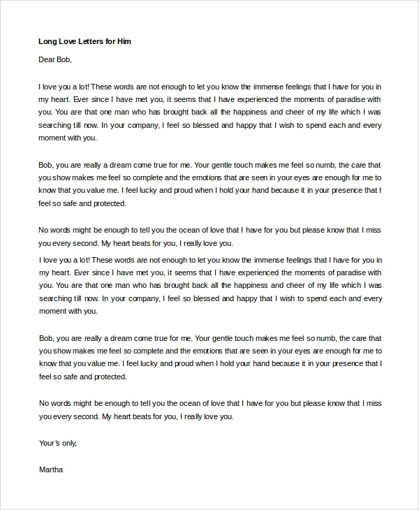 A Long Letter To Your Boyfriend from images.sampletemplates.com