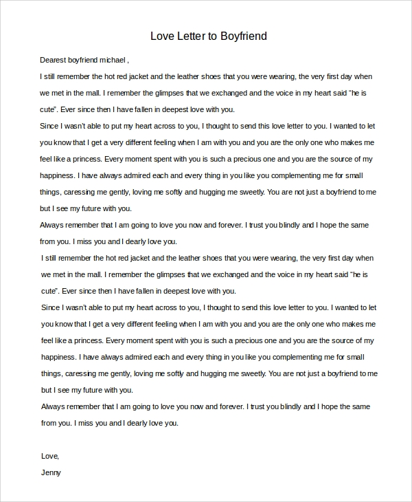 Sample love letter to boyfriend 7 examples in word love letter to my boyfriend sample altavistaventures Images