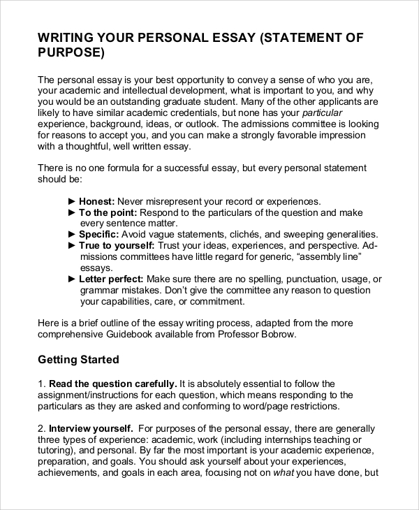 Graduate school statement of purpose essays