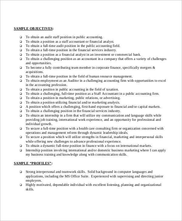 Basic-Resume-Objective Objective Resume Format on for entry level sample, wording examples,