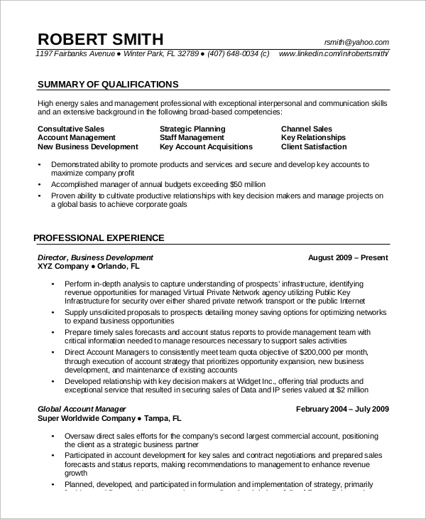experienced it resume