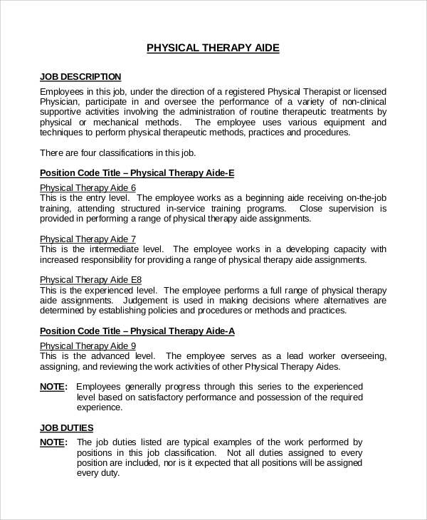 Physical Therapy Assistant Salary Physical Therapist Aides