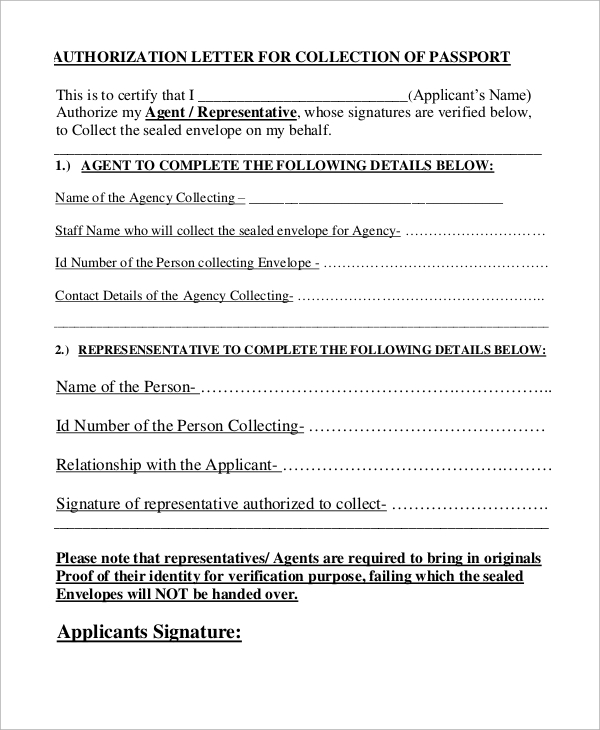 Sample letter of authorization 9 examples in pdf word authorization letter to collect passport spiritdancerdesigns Choice Image