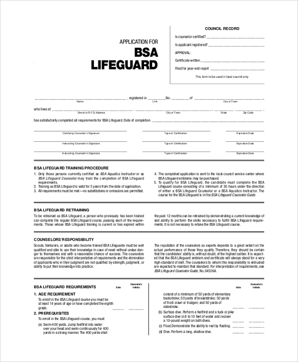 Sample Bsa Health Form - 8+ Examples In Pdf