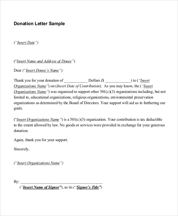 thank you for your donation letter sample thank you letter 7 examples in word pdf 25086 | Sample Thank You Letter For Donation