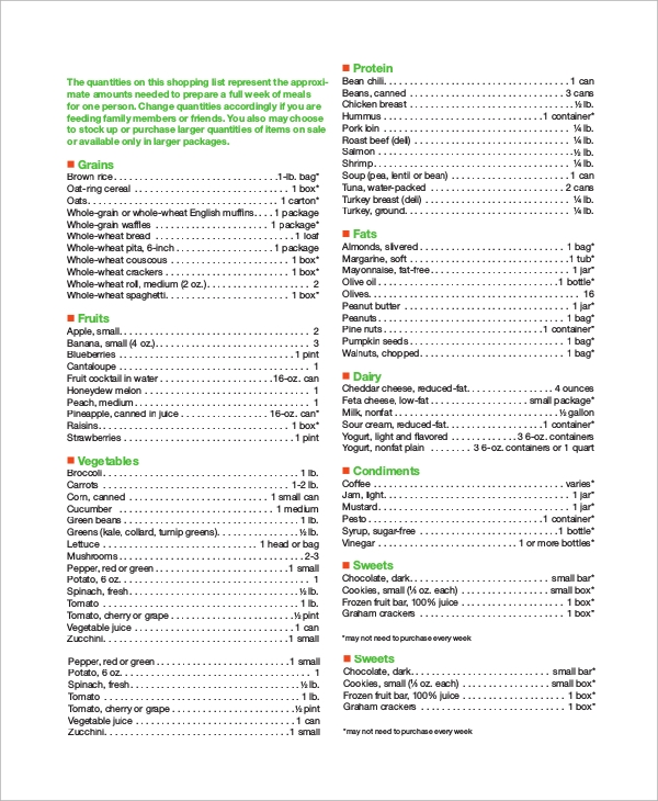 healthy meal plan for one month