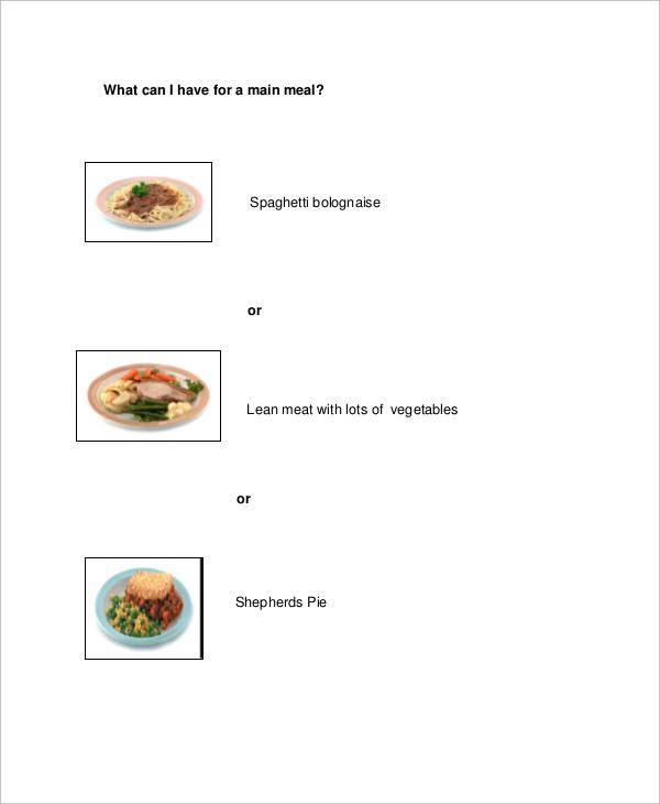 sample healthy meal plan