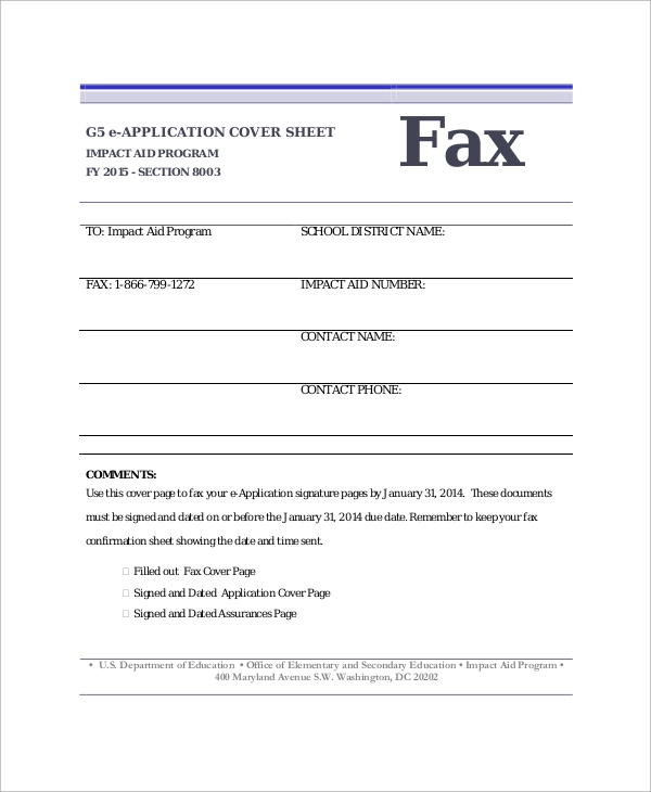 sample fax cover sheet 9 examples in word pdf