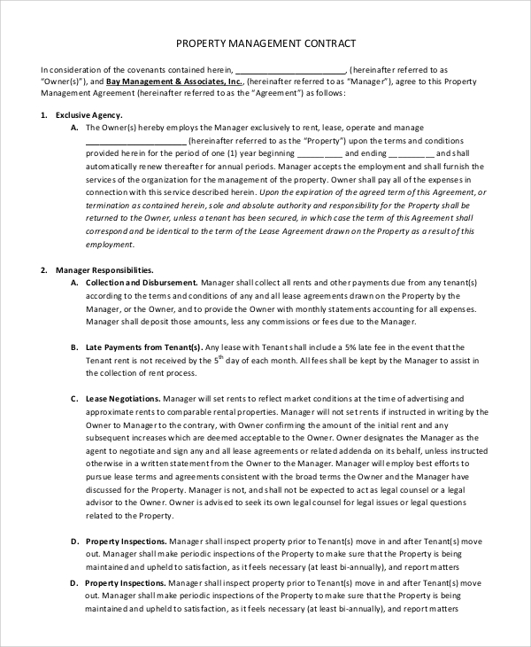 Sample Contract Management - 8+ Examples in PDF, Word
