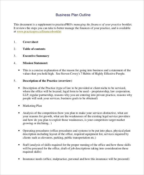 Basic Business Plan Outline Yelommyphonecompanyco - Basic business plan outline template