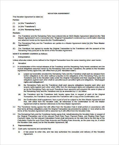 novation master agreement pdf