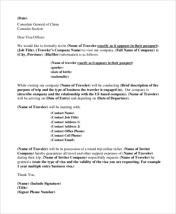 business letter example 9 samples in word pdf