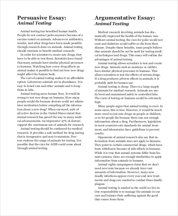 Good thesis for animal testing research paper