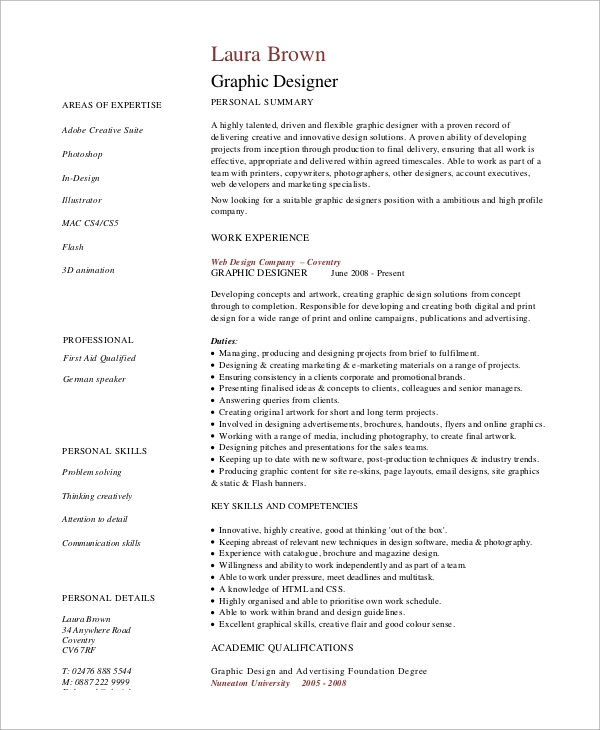 FREE 8+ Simple Resume Samples In MS Word