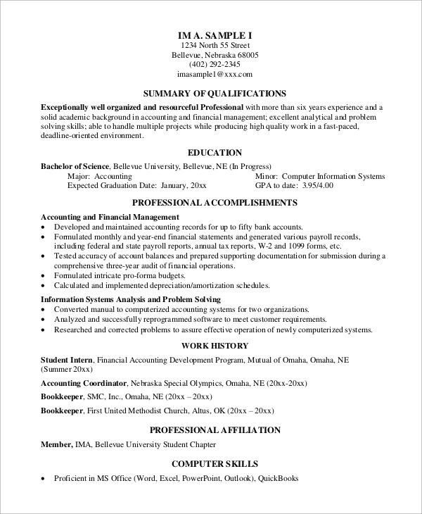 free 8  simple resume samples in ms word