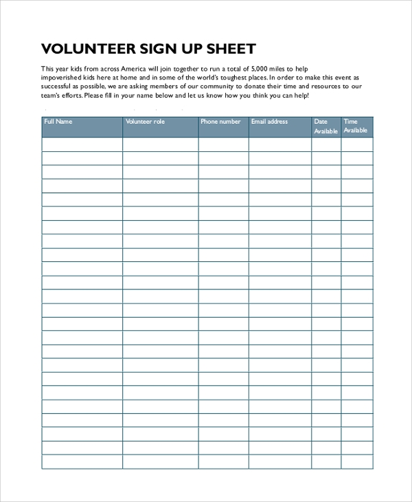 Sample Sign In Sheet - 9+ Examples In Pdf, Word