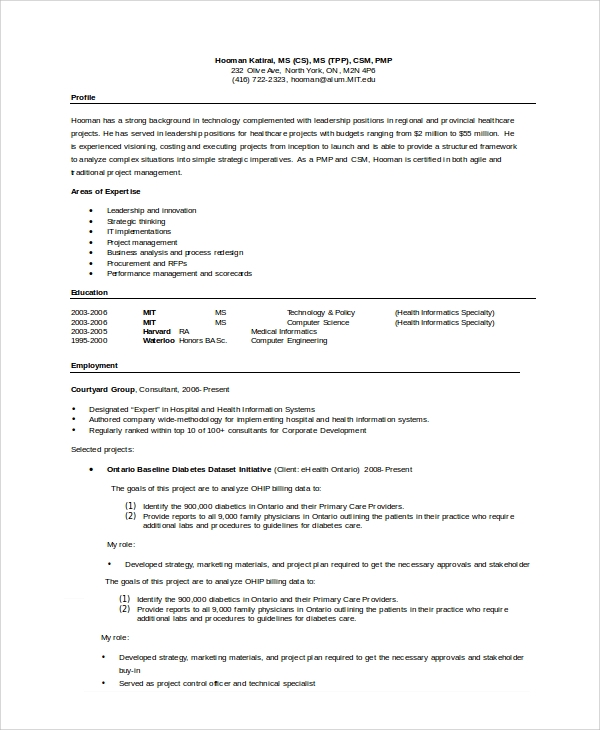 word document resume sample