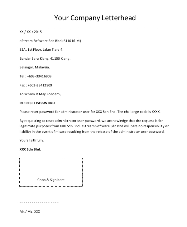 Sample Company Letterhead 8 Examples in PDF Word – Letterhead Format for Company