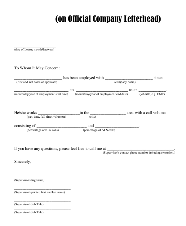 Sample Company Letterhead   Examples In Pdf Word