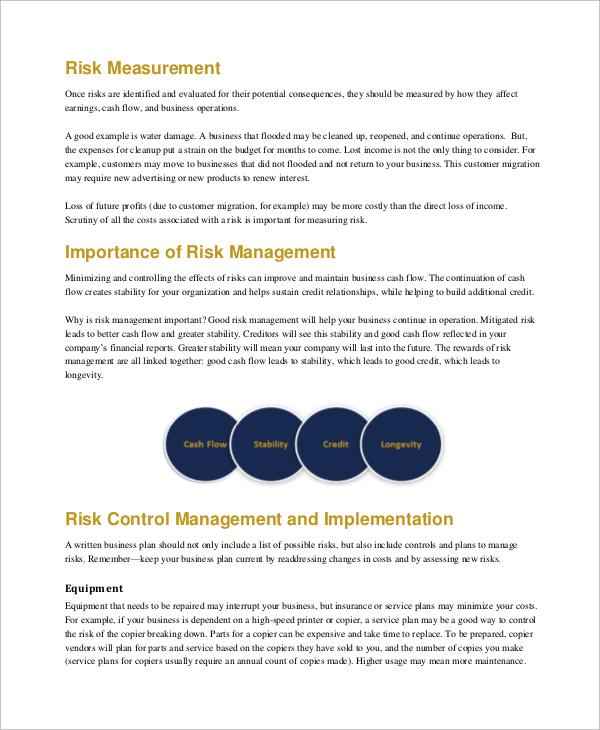 Small Business Risk Management Guide Nzi Dinosauriensfo