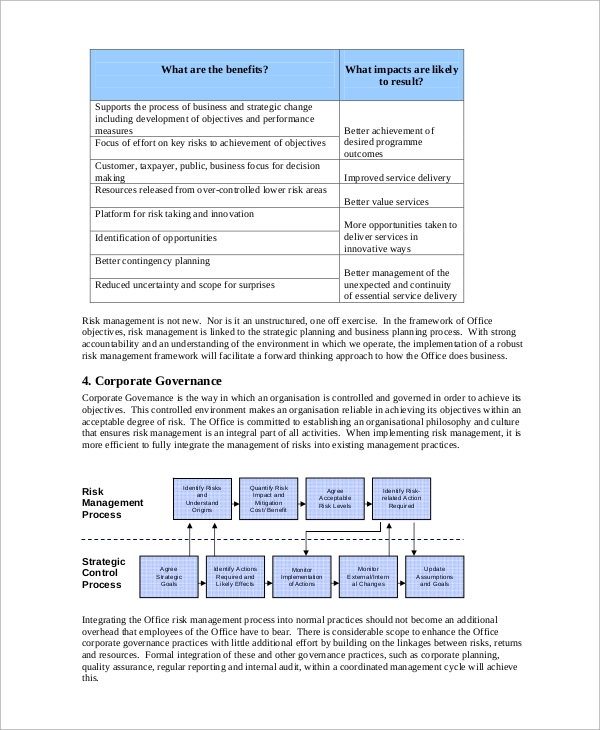 Sample Risk Management Plan   Examples In Pdf