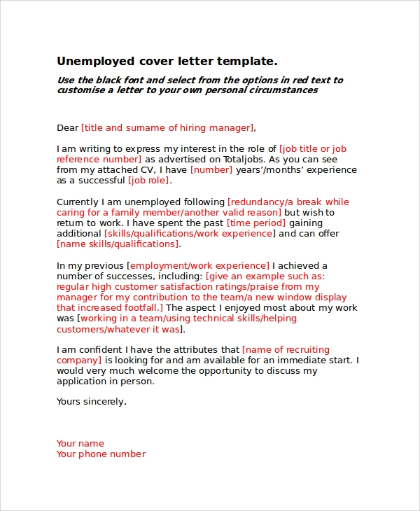Sample Basic Cover Letter - 8+ Examples In Word, Pdf
