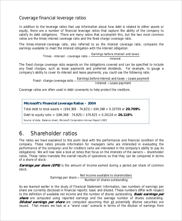 Doc12751650 Sample Financial Analysis Report Annual Report – Company Annual Report Sample