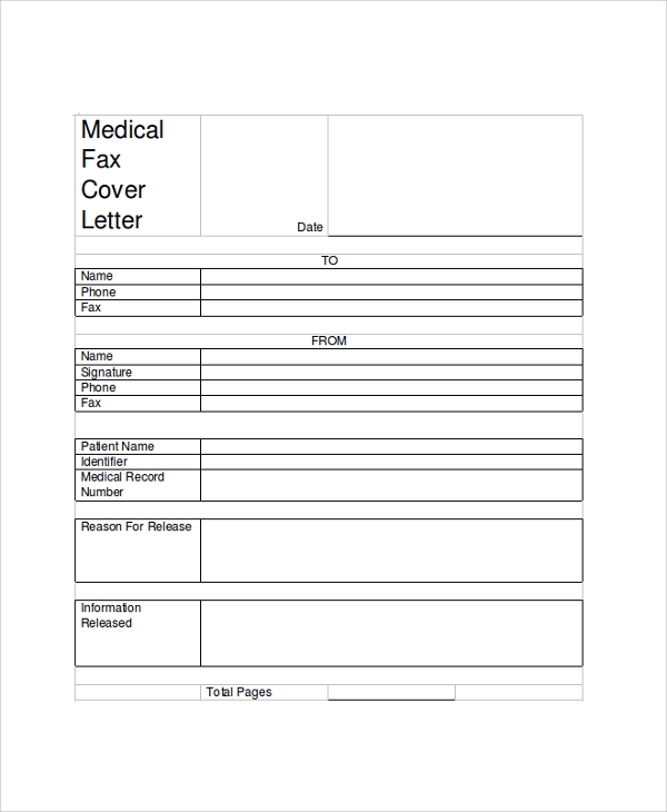 medical fax cover letter sample - Examples Of Fax Cover Letters