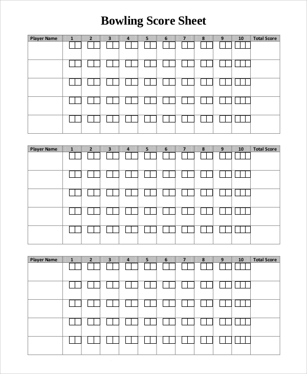 bowling score sheet example