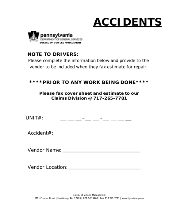 Sample Blank Fax Cover Sheet 8 Examples In Pdf Word
