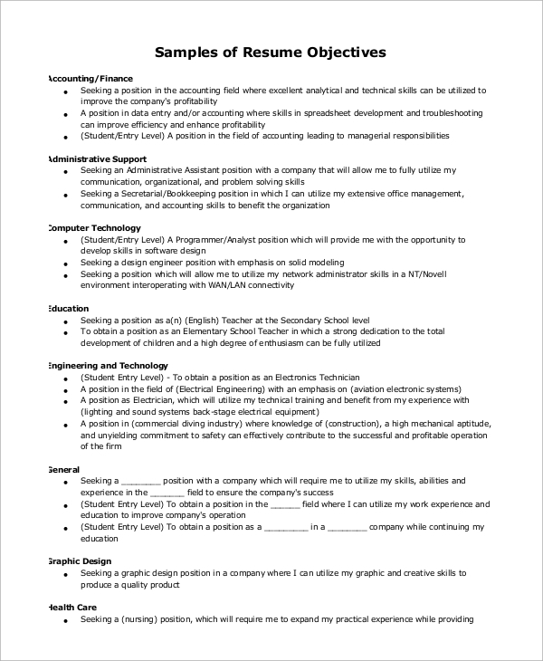 Impressive Sample Resume For Cna Objective Statement Examples Career