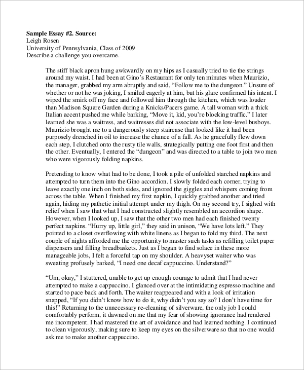 college business essays The new york post has a copy of kwasi enin's college application essay that got  the high school senior into every ivy league university.