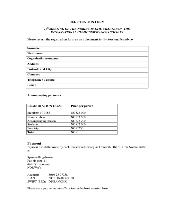 registration form example