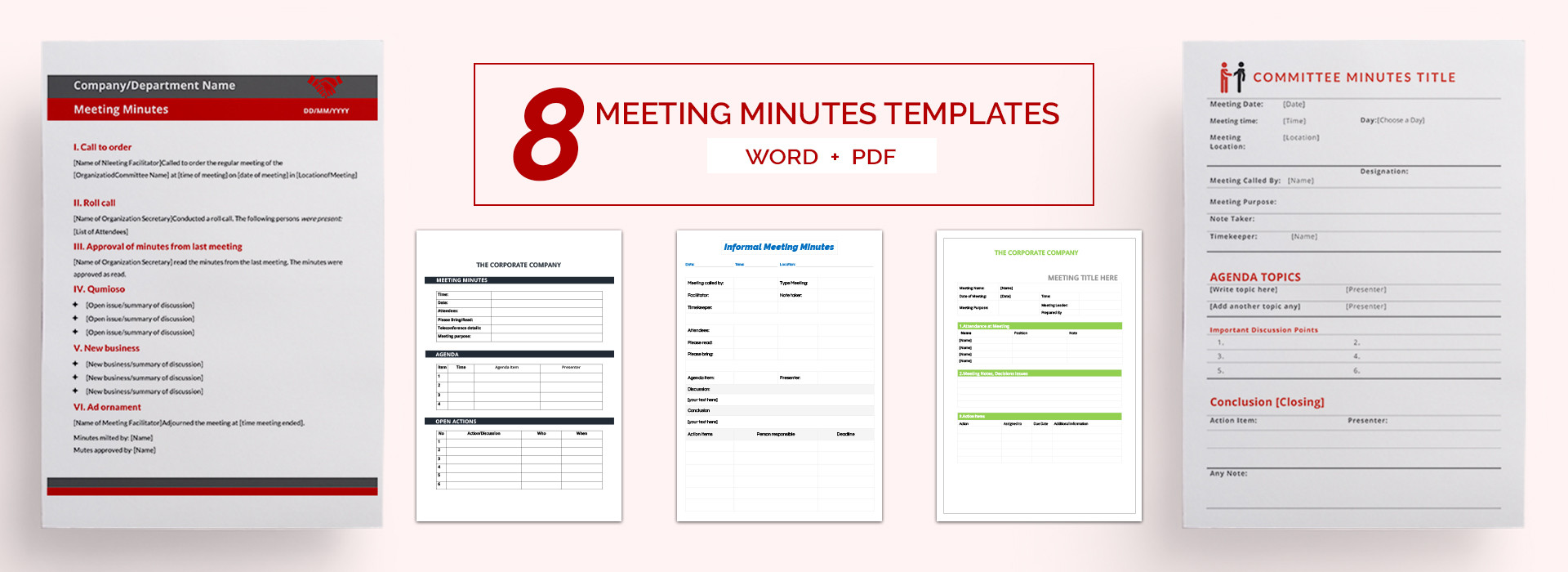 6 free sample meeting minutes corporate non profit board