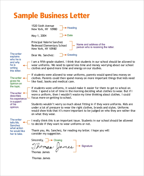 8 business letter examples templates sample templates basic business letter sample accmission Choice Image
