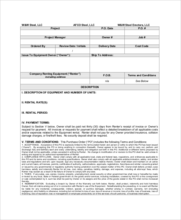 Doc585650 Delivery Order Sample Delivery Order Template 12 – Examples of Purchase Orders